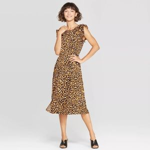 WHO WHAT WEAR Animal print midi dress